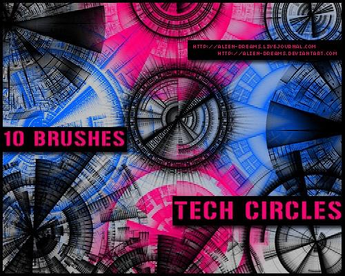 Tech Circle Brushes Photoshop brush