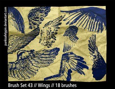 Wings Photoshop brush