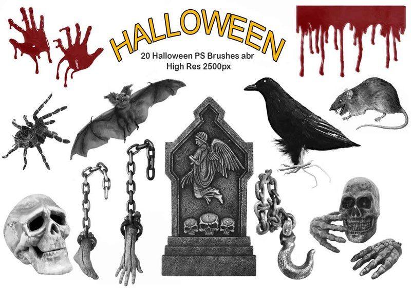 20 Halloween PS Brushes abr Photoshop brush