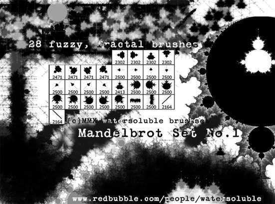 Mandelbrot Set Fractal Brushset No.1 Photoshop brush