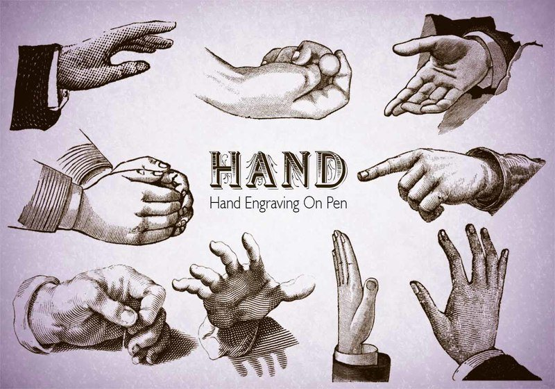 20 Hand PS Brushes abr.Vol.7 Photoshop brush