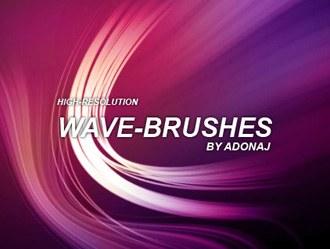 High-Res Wave Brushes Photoshop brush