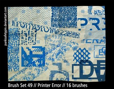 Printer Error Photoshop brush
