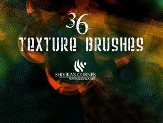 36 Texture Brushes Photoshop brush