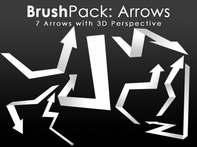 3D Arrows Photoshop brush