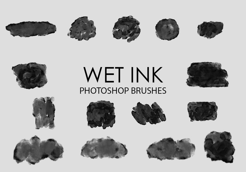 Free Wet Ink Photoshop Brushes 2 Photoshop brush