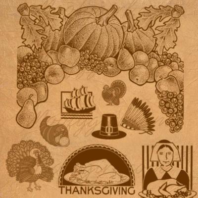 Thanksgiving Theme Photoshop Brushes Photoshop brush