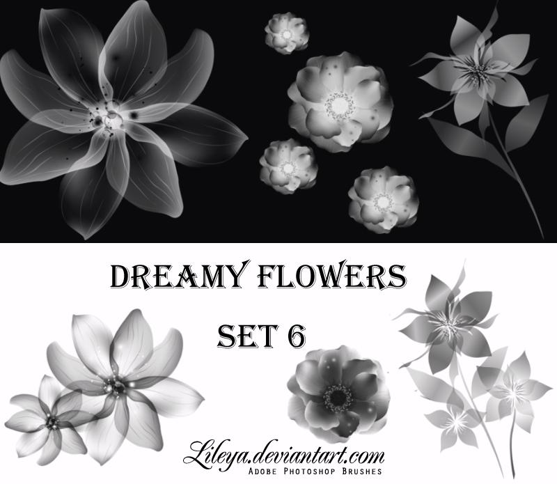 Dreamy Flowers set 6 Photoshop brush