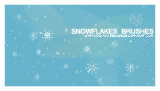 Snowflakes Brushes Photoshop brush
