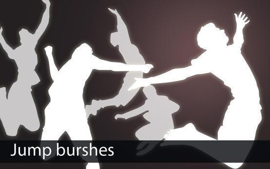Grungy Jump Brushes Photoshop brush