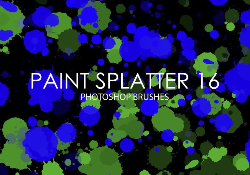 Free Paint Splatter Photoshop Brushes 16 Photoshop brush