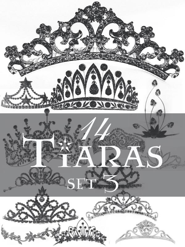 Tiaras brush set 3 Photoshop brush
