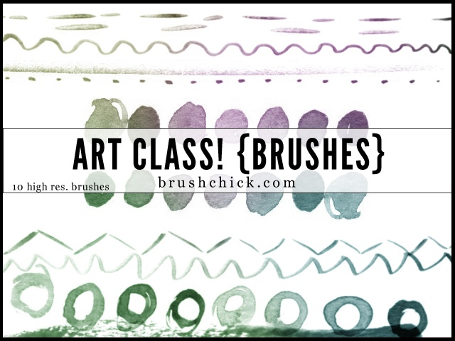 Art Class Line Photoshop brush