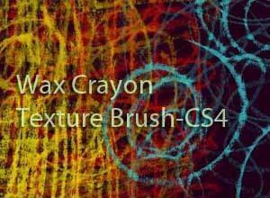 Wax Crayon Texture Brush cs4 Photoshop brush
