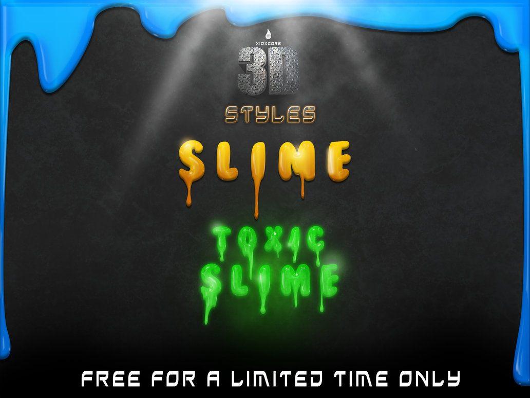 3D Slime Styles Photoshop brush