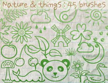 Nature Brushes Photoshop brush