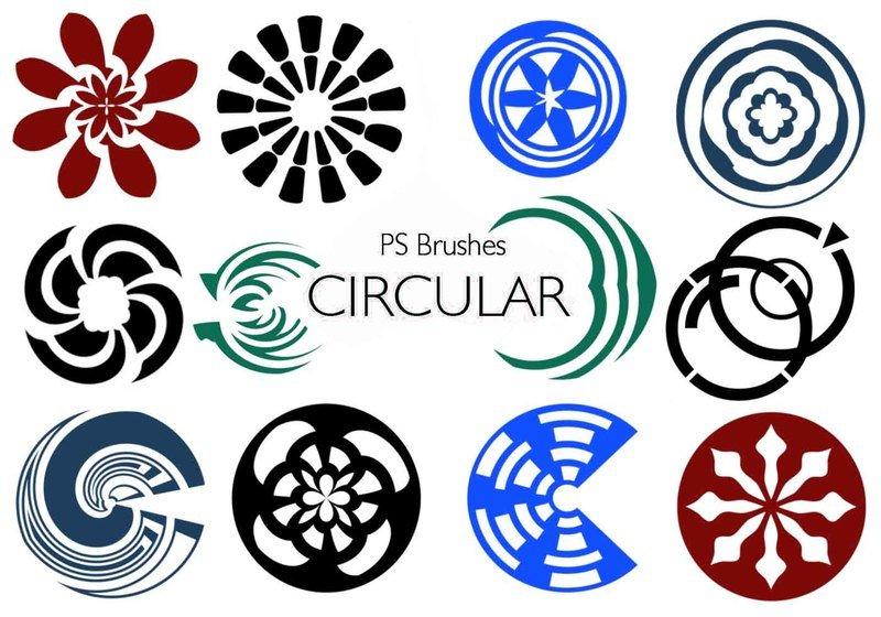 20 Circular PS Brushes abr. Vol.10 Photoshop brush