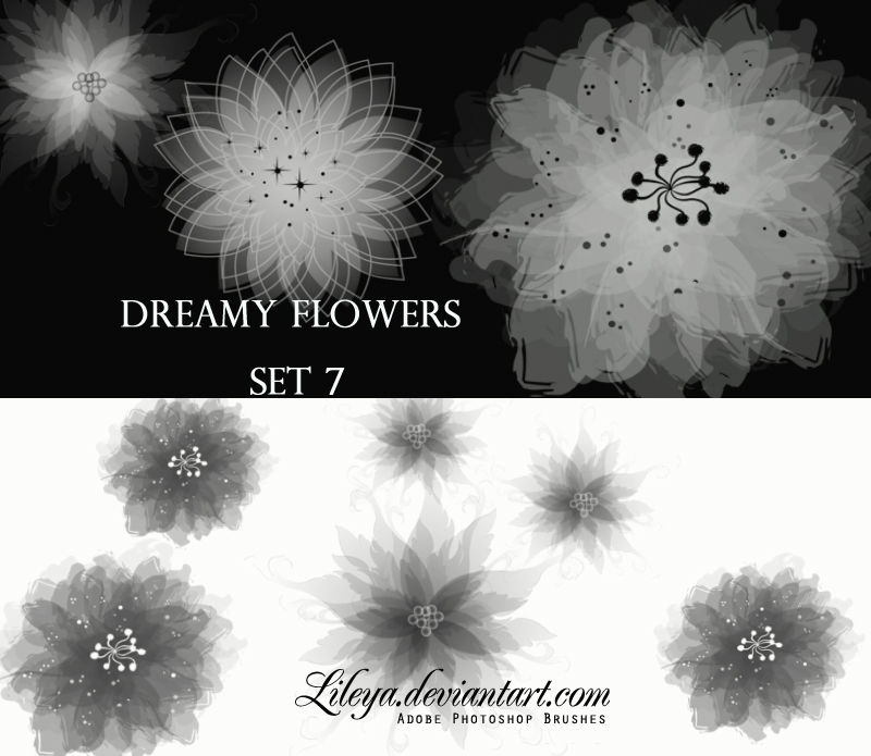 Dreamy Flowers set 7 Photoshop brush