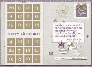 FREE Seishido.biz Christmas Calendar  Photoshop brush