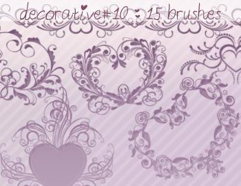 Decorative Brushes 10 Photoshop brush