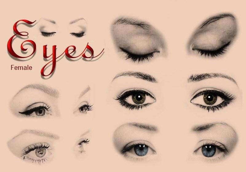 20 Female Eyes Ps Brushes abr. Photoshop brush