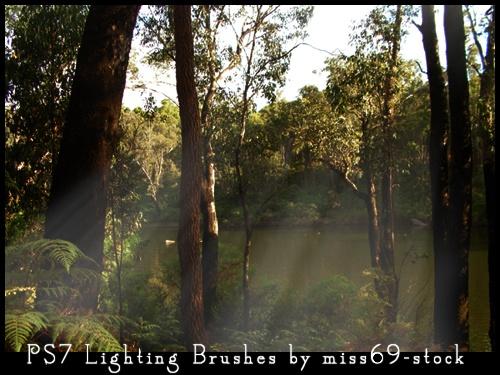 Lighting brushes Photoshop brush