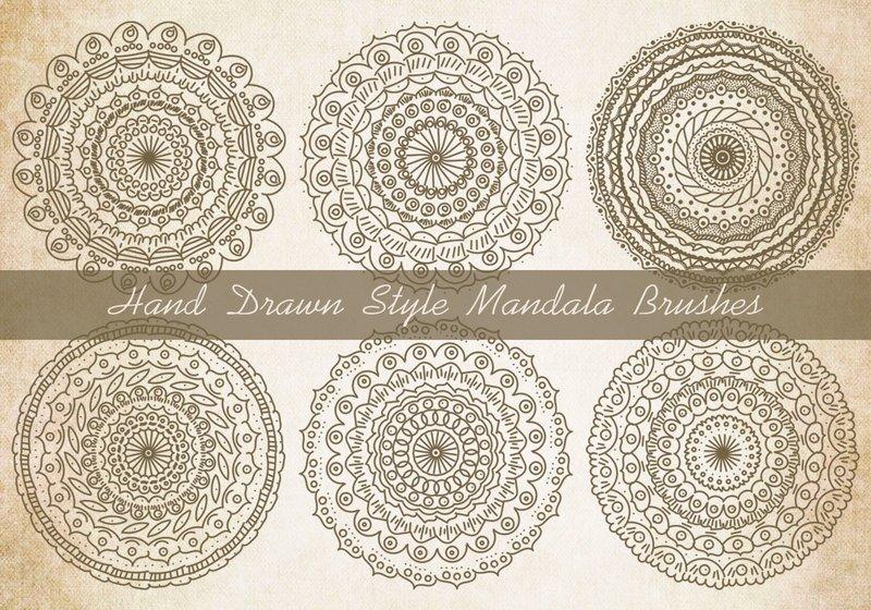 Sketchy Style Mandala Brushes Photoshop brush