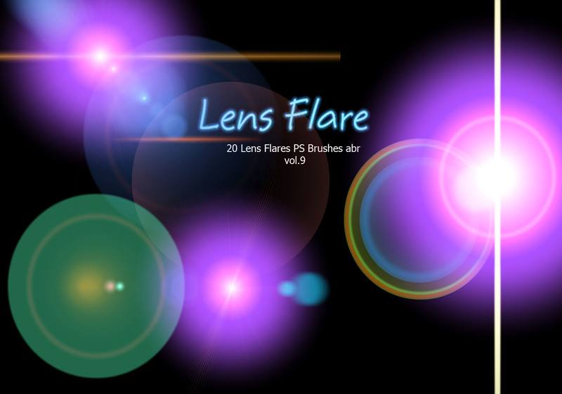 20 Lens Flares PS Brushes abr vol.9 Photoshop brush
