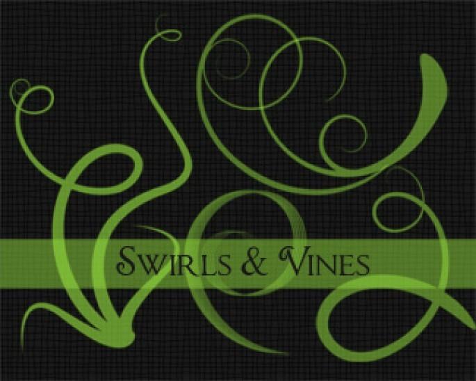 Swirls & Vines Photoshop brush