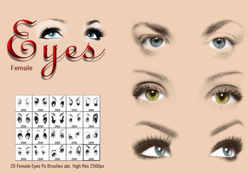 Female Eyes Ps Brushes abr. Photoshop brush