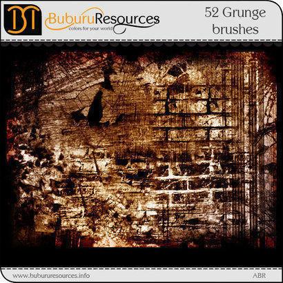52 Grunge brushes Photoshop brush
