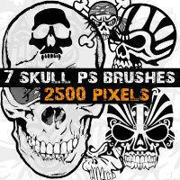 Skull Brushes Photoshop  Photoshop brush