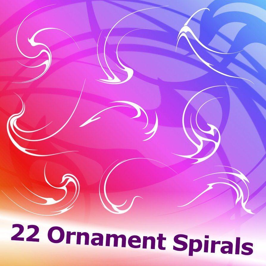 Ornament Spirals Brushes Photoshop brush