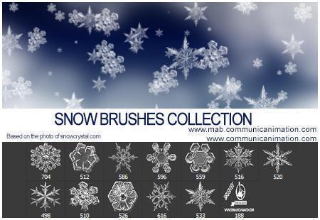 Real Snow Flakes Brushes Photoshop brush