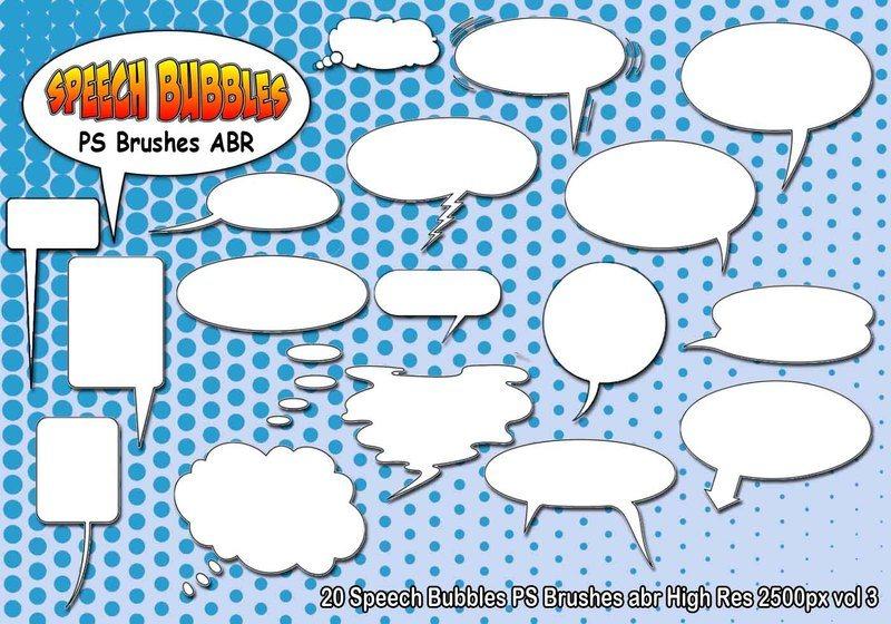 Speech Bubbles PS Brushes abr  vol 3 Photoshop brush