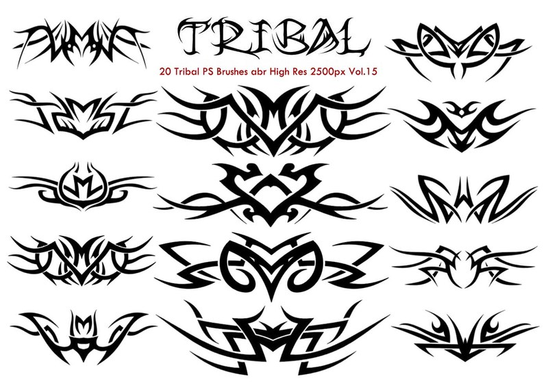 20 Tribal PS Brushes Vol.15 Photoshop brush