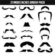 Moustaches Brush Pack Photoshop brush