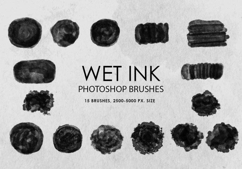 Free Wet Ink Photoshop Brushes Photoshop brush