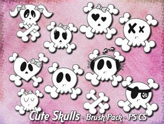 Cute Skulls Photoshop brush