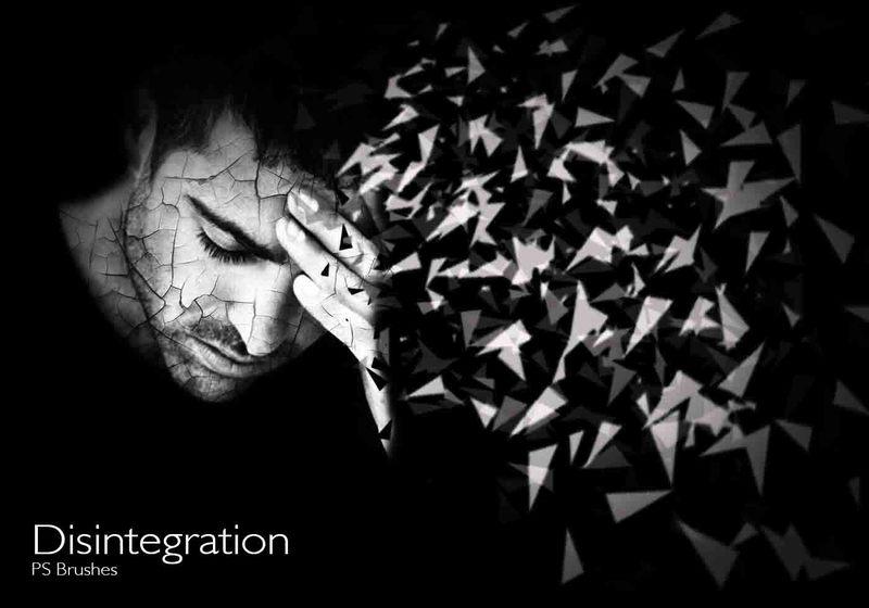 20 Disintegration PS Brushes abr. vol.9 Photoshop brush