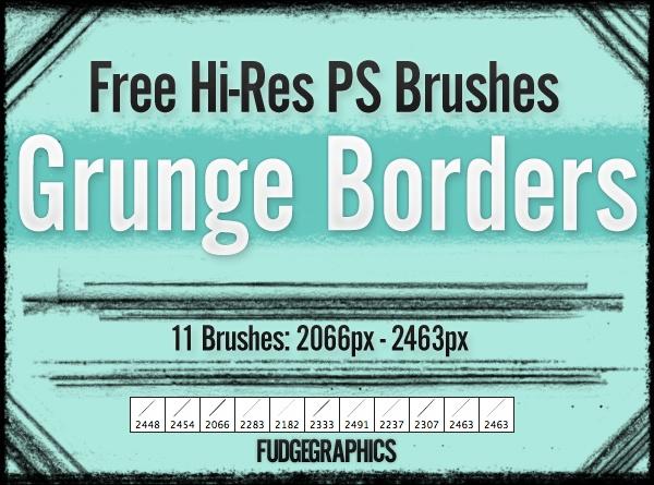 Grunge Borders Brush Set Photoshop brush