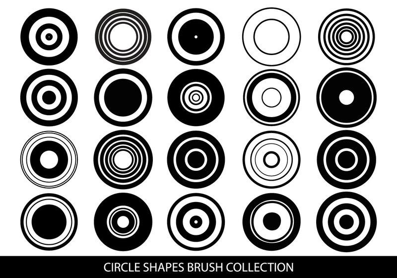 Circle Shapes Brush Collection Photoshop brush