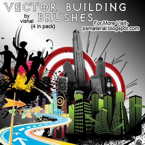 Vector Building Photoshop brush