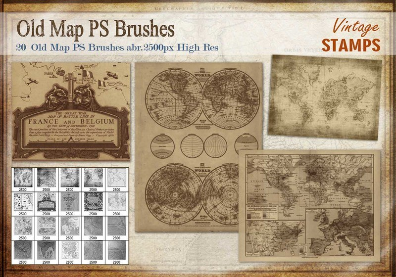 Old Map PS Brushes Photoshop brush