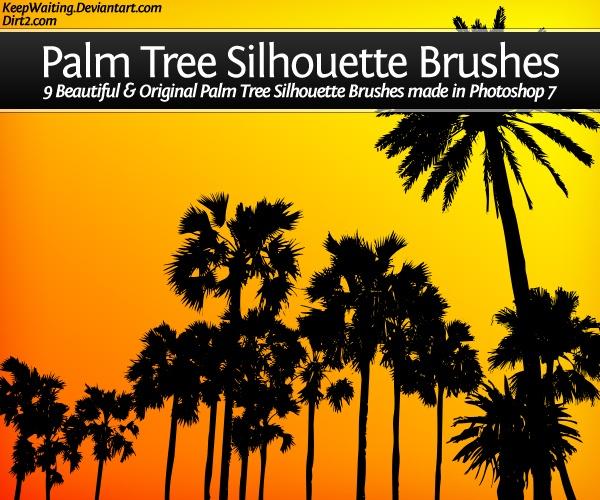 Palm Tree Set Photoshop brush