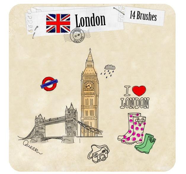 London Photoshop brush