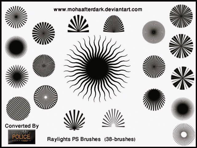 Raylights Photoshop brush