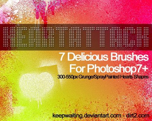 HeartAttack Brushes Photoshop brush