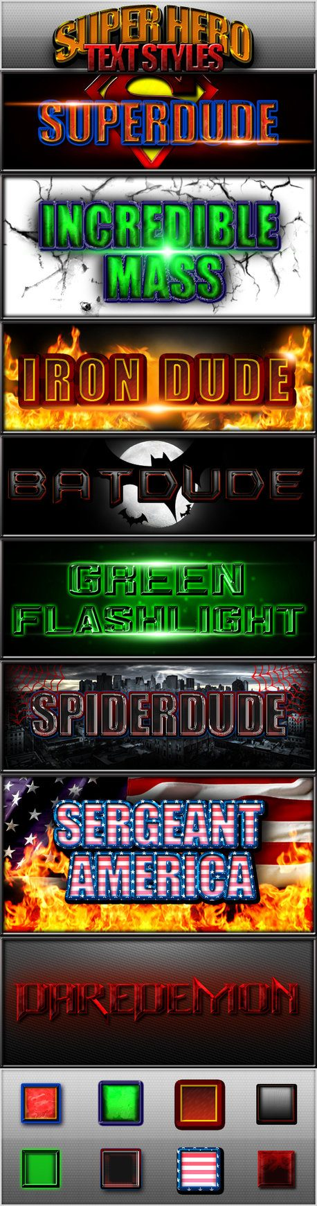 Super Hero Text Styles Photoshop brush