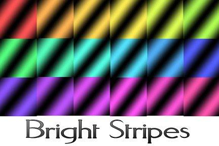 Bright Stripes Photoshop brush